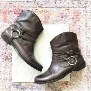Corso Como | Dark Brown Leather Ankle Booties 8
